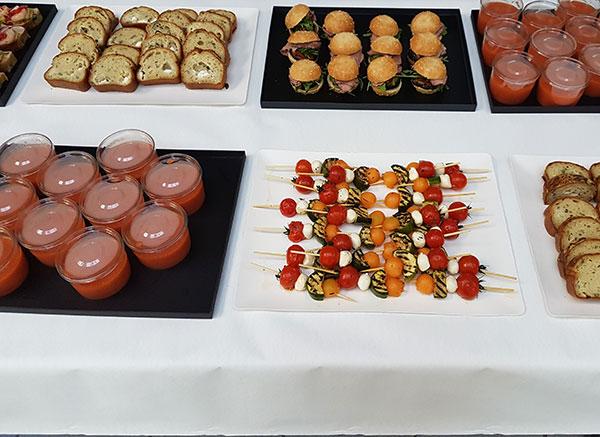 Un buffet lors d'un séminaire